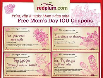 Free Printable Mothers Day IOU Coupons
