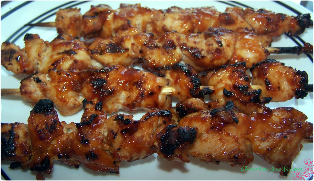 Bacon Coated Barbecue Chicken Kebabs Clever Housewife