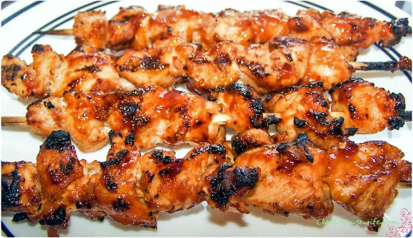 Bacon Coated Barbecue Chicken Kebabs