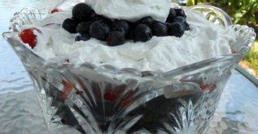 Red, White and Blue Brownie Trifle
