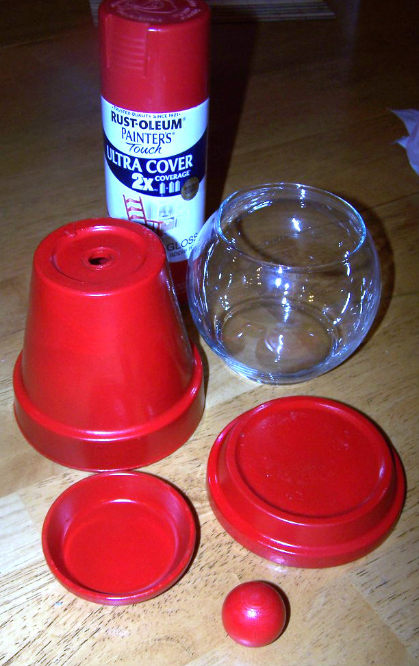 Spray Paint Dry Clay