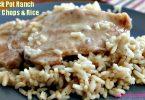 Crock Pot Ranch Pork Chops and Rice