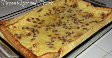 german pancakes with brown sugar and pecans