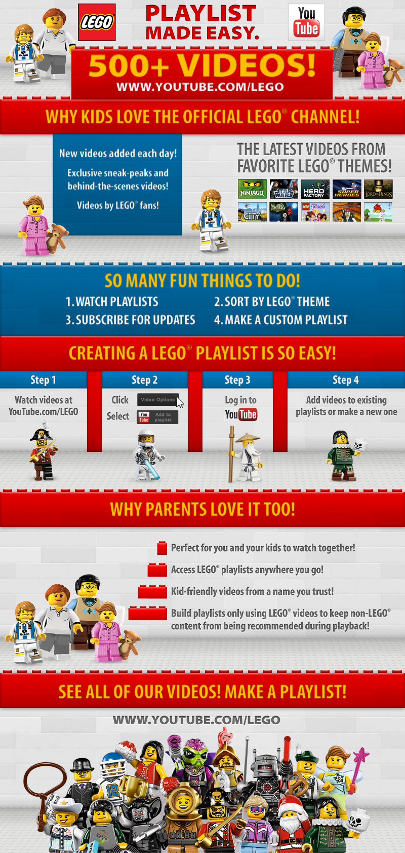 LEGO® Playlists To Occupy the Kids When You're In Survival Mode