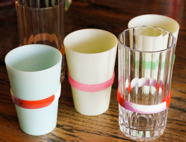 Easy Cup Labeling Solution! Problem solved for too many glasses on the counter!