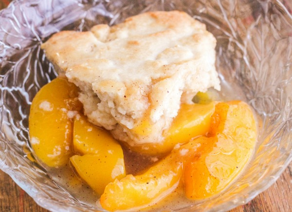 Peach Cobbler - Bakes in 20 minutes!