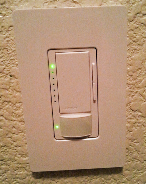 "Lutron Dimmer ""Who Left the Lights On?"""