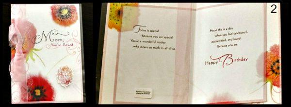 Mom You're Loved Card #BirthdaySmiles