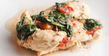 Herb Chicken Skillet with Spinach & Tomatoes 004