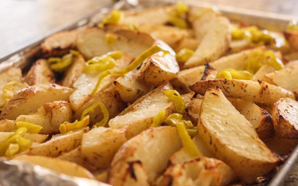 Oven Roasted Greek Potatoes #FreshFinds #shop