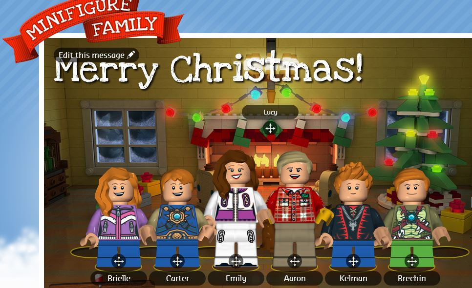 LEGO Minifigure Family Holiday Card - Clever Housewife