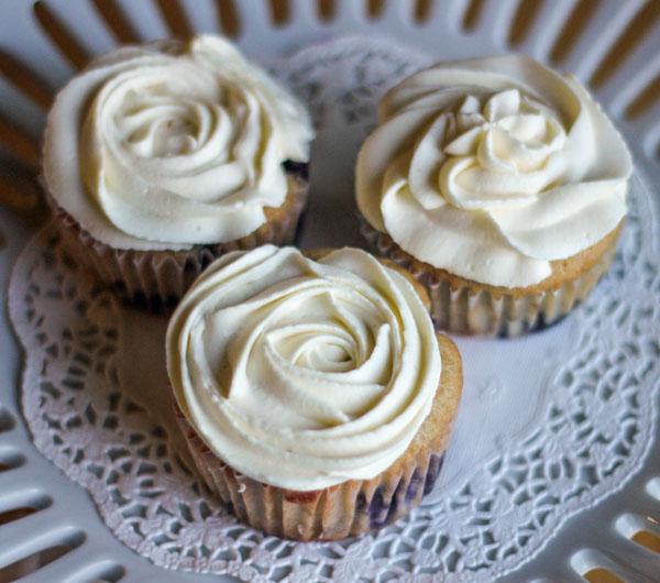 Lemon Blueberry Cupcakes with Lemon Mascarpone Frosting