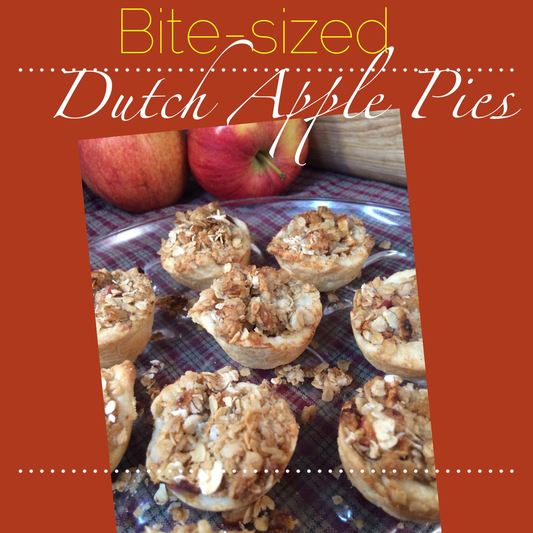 Life Made Bite-Sized: Bite-Sized Dutch Apple Pie Recipe