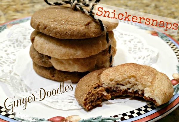 GingerDoodles or Snickersnaps - half Gingersnaps and half snickerdoodles