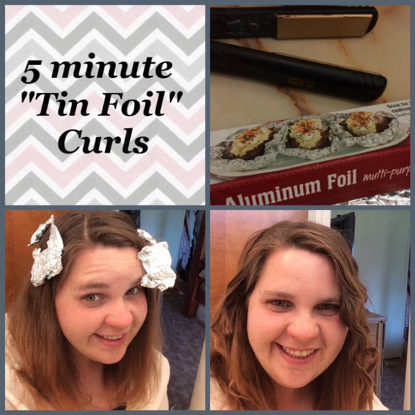 "5-Minute ""Tin-Foil"" Curls Tutorial + My 30 Day Hair Challenge + Giveaway"