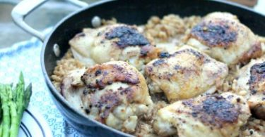 Creamy Risotto and Chicken Skillet
