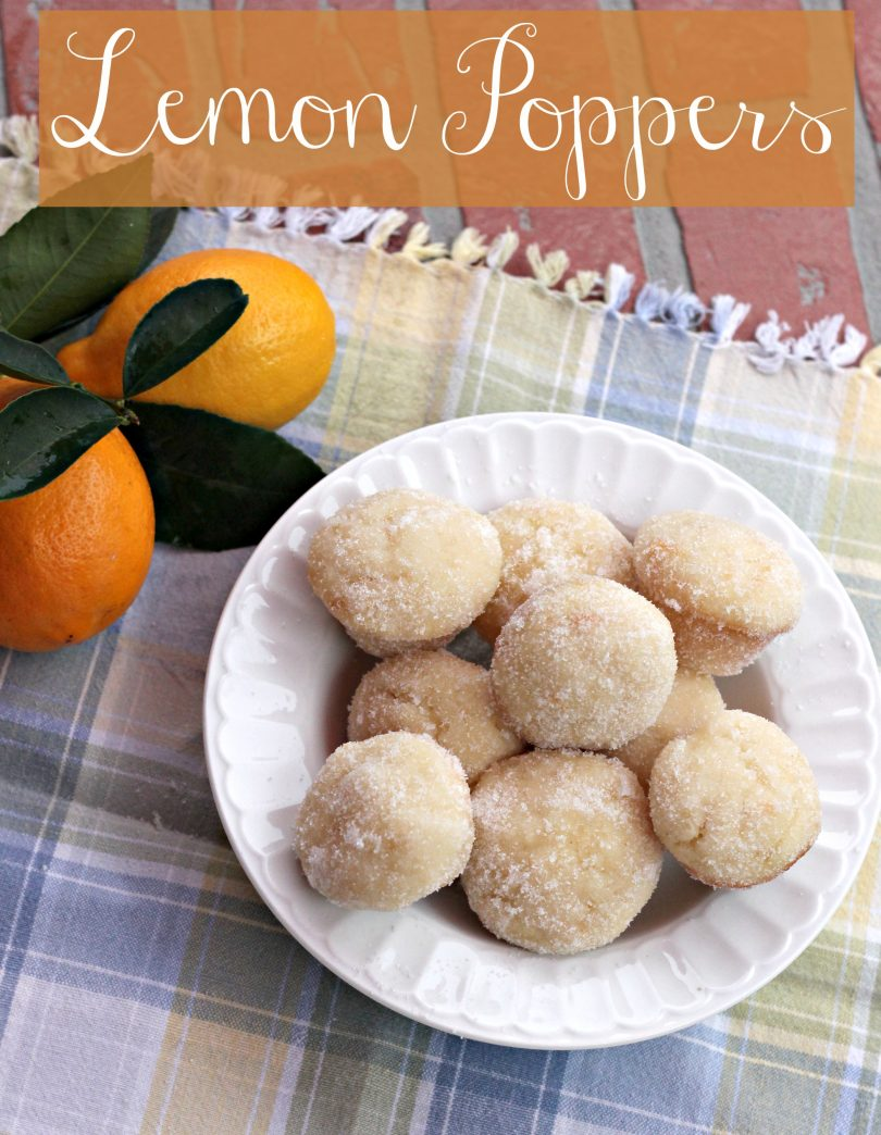 Lemon Poppers for a sweet treat that melts in your mouth! You can't eat just one!