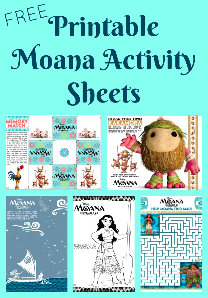 Free Printable Moana Activity Sheets And Coloring Pages