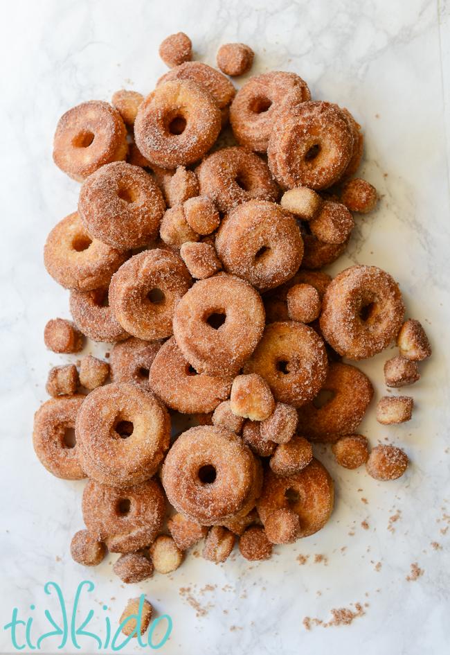 Cinnamon Sugar Cake Doughnut Recipe from Tikkido