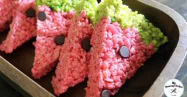 Watermelon Rice Krispie Treats from My Heavenly Recipes