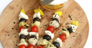 Vegetarian Antipasto Skewers