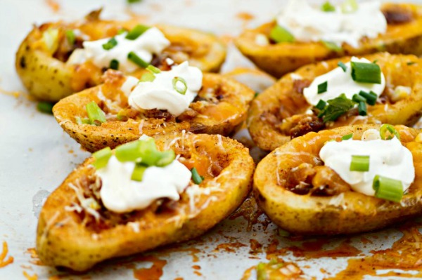 Homemade Stuffed Potato Skins from Housewife How To's