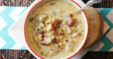 Instant Pot Bacon Corn and Potato Chowder from Food Fun Family