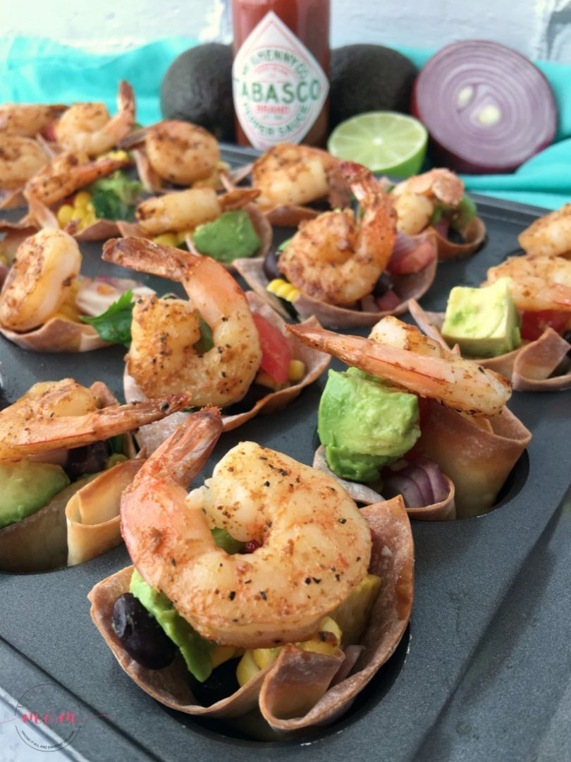Spicy Shrimp Wonton Cups Appetizer from Must Have Mom