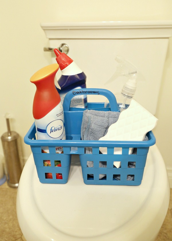 Bathroom cleaning caddy