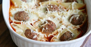 Easy Meatball Stuffed Shells