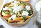 Peach Basil Salad from 5 Minutes for Mom