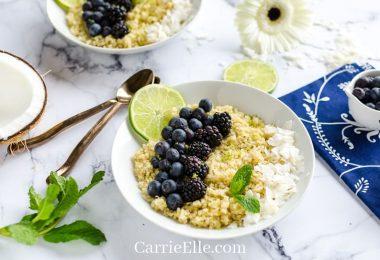 Instant Pot Breakfast Quinoa from Carrie Elle
