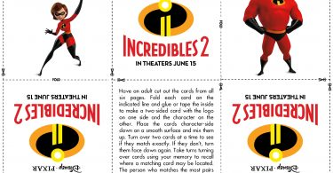 Incredibles 2 Activity Sheets