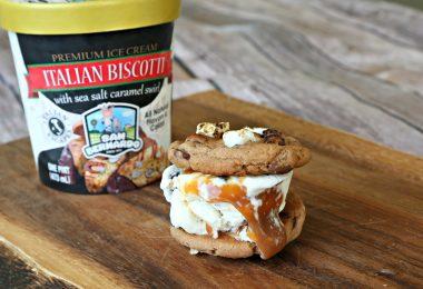 Hot Chocolate and Biscotti Ice Cream Sandwiches