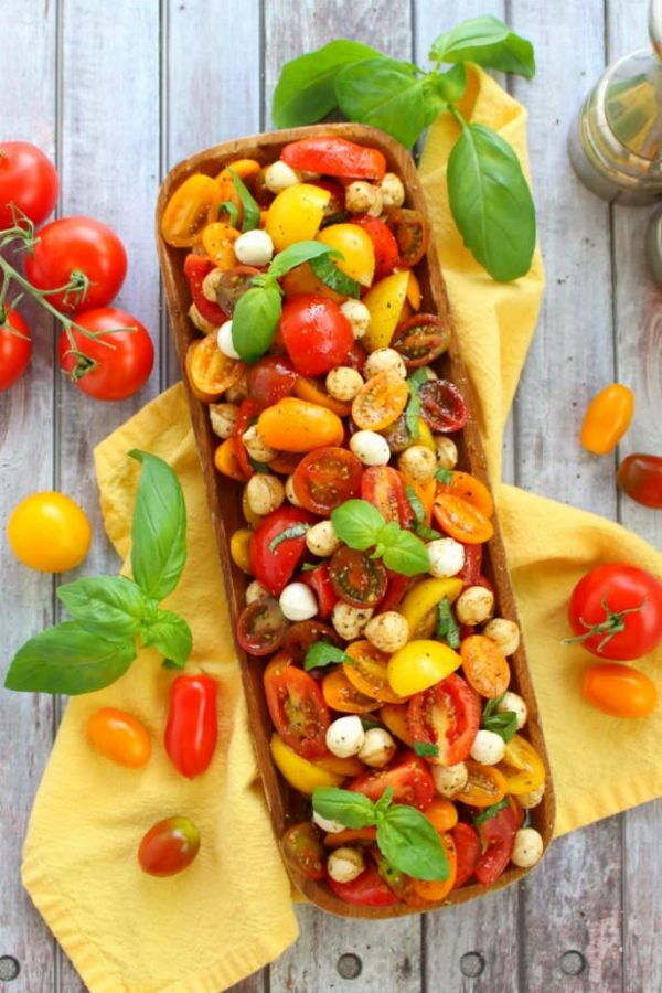 Italian Caprese Tomato Salad from Delightful E Made