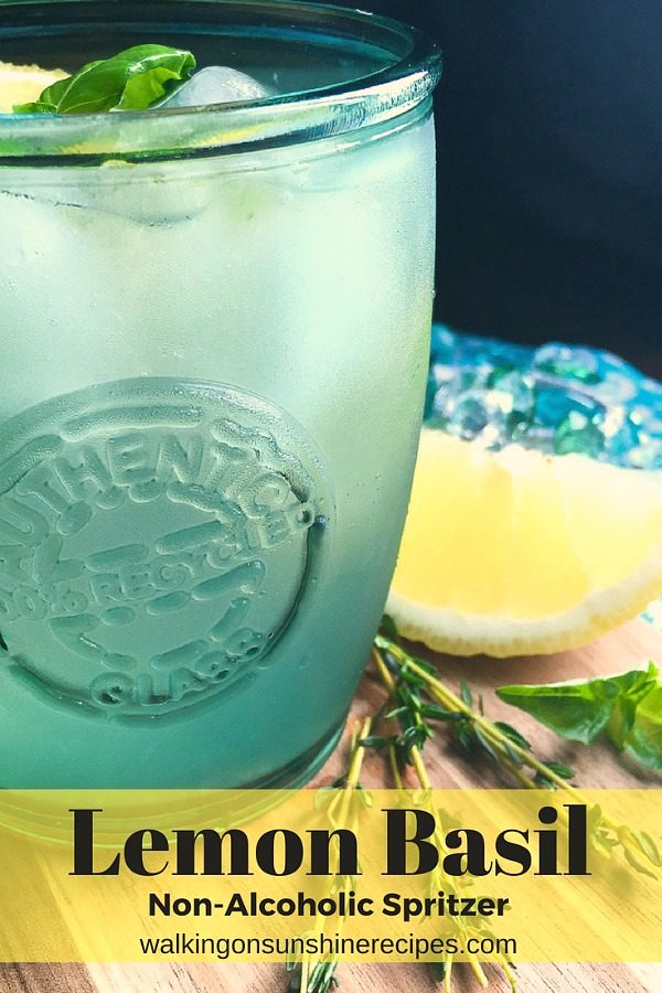 Lemon Basil Mint Spritzer