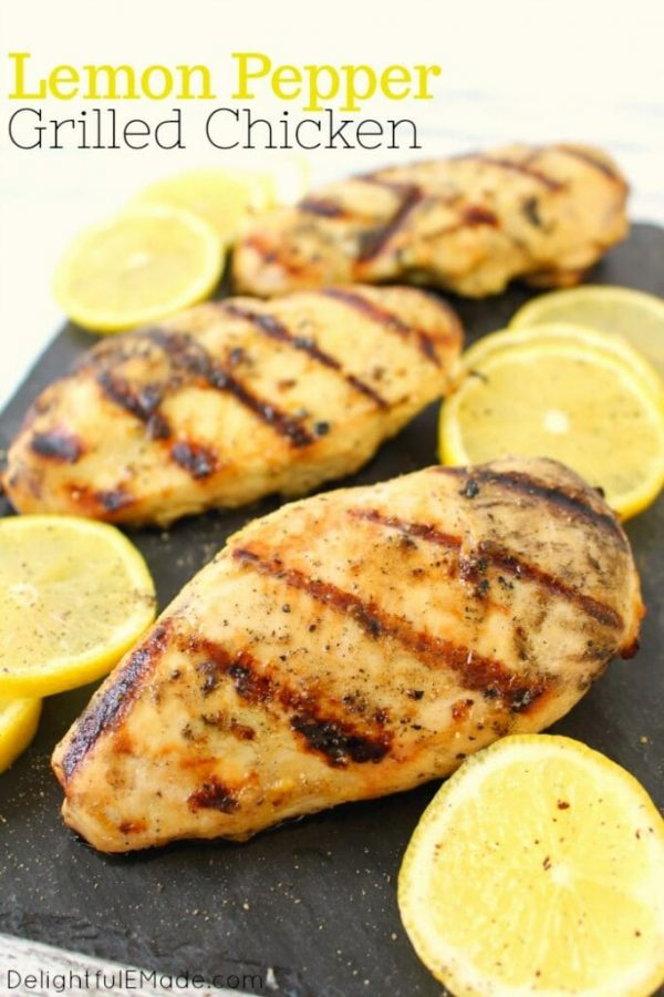 Lemon Pepper Grilled Chicken from Delightful E Made