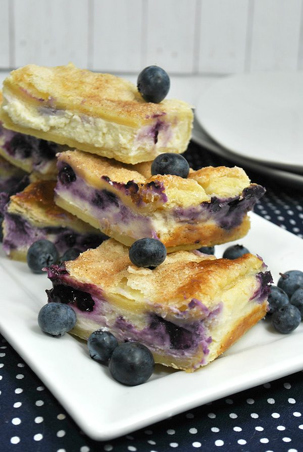 Sopapilla Blueberry Cheesecake Bars from Tuxedo Cats and Coffee