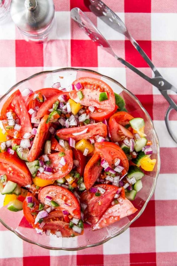 Tomato Cucumber Salad from April Go Lightly