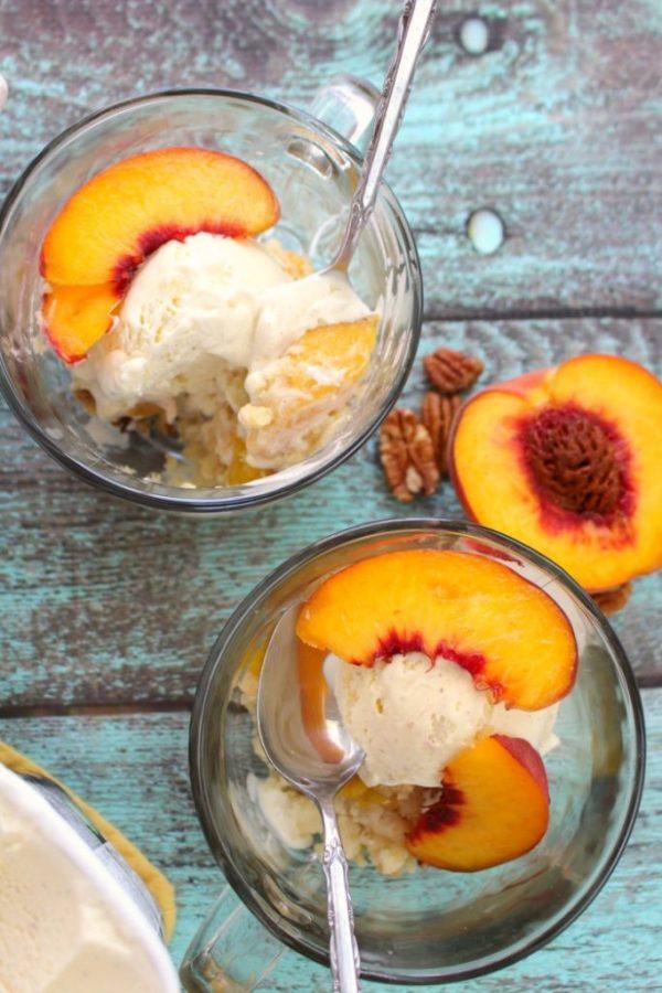 Cake Mix Peach Cobbler from Delightful E Made
