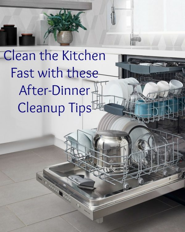 Clean the Kitchen Fast with these After-Dinner Cleanup Tips
