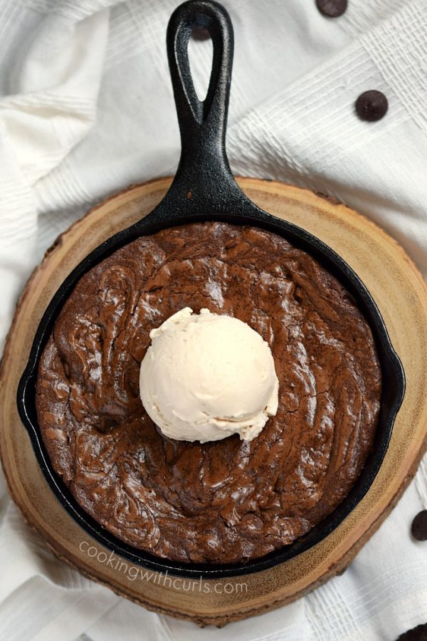 Skillet Brownies for Two from Cooking with Curls