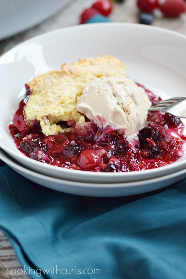 Very Berry Cobbler from Cooking with Curls