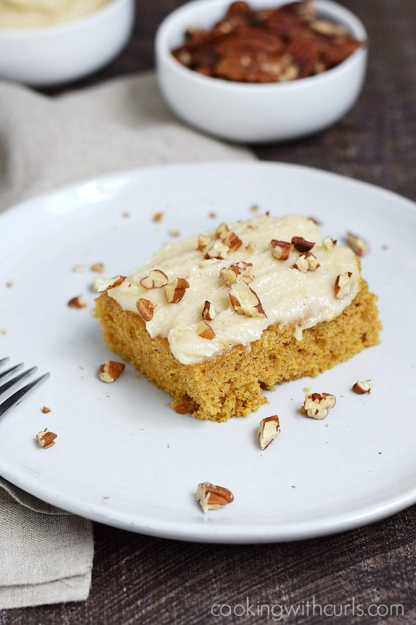 Pumpkin Spice Bars from Cooking with Curls