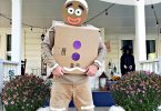 DIY Gingerbread Man Costume from Amazon Prime Boxes