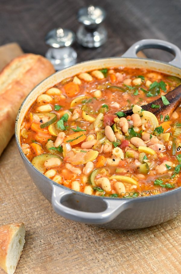 Instant Pot Minestrone Soup from Cooking with Curls
