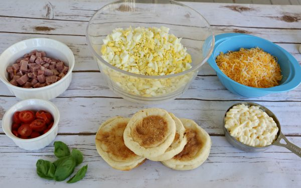 Open-Faced Egg and Ham Melt