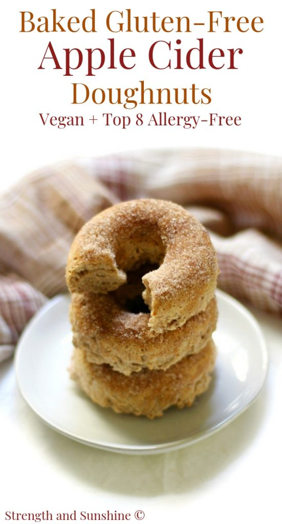 Apple Cider Doughnuts from Strength and Sunshine