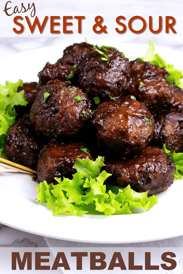 Easy Sweet and Sour Meatballs from Wonder mom Wannabe