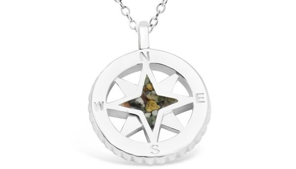 Dune Jewelry Compass Sterling Necklace